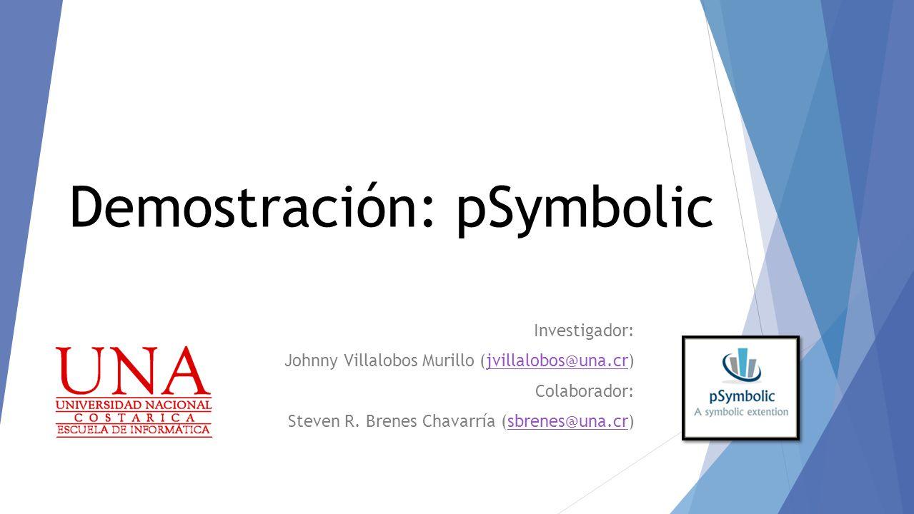 Investigador: Johnny Villalobos Murillo (jvillalobos@una.cr)jvillalobos@una.cr Colaborador: Steven R.
