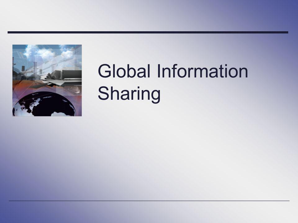 Global Information Sharing