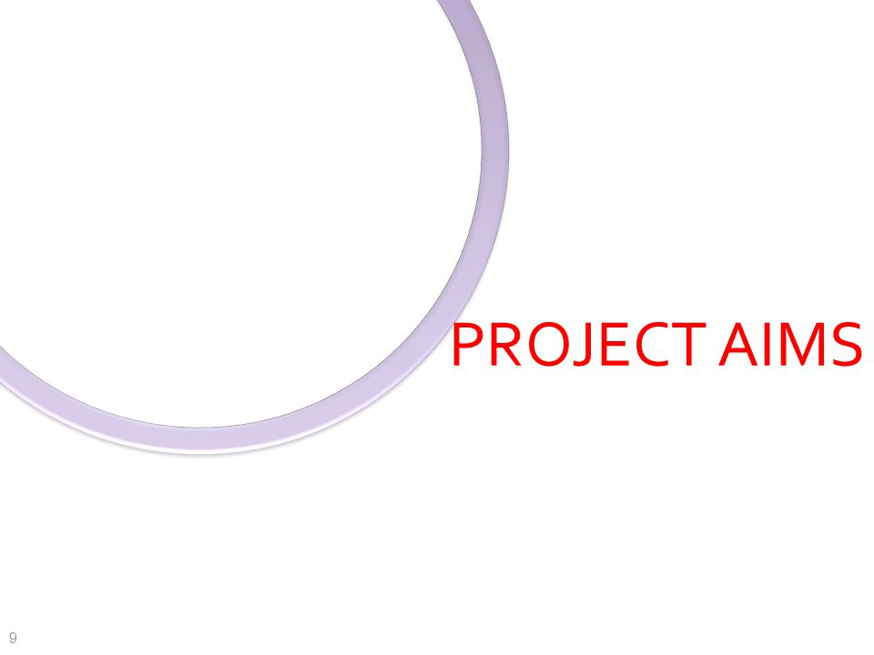 PROJECT AIMS 9