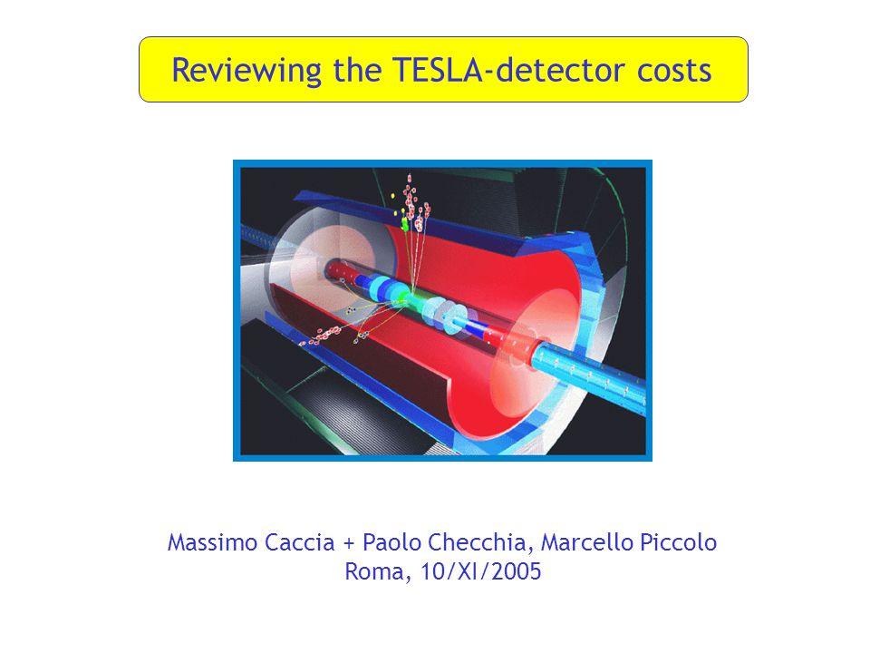 Reviewing the TESLA-detector costs Massimo Caccia + Paolo Checchia, Marcello Piccolo Roma, 10/XI/2005