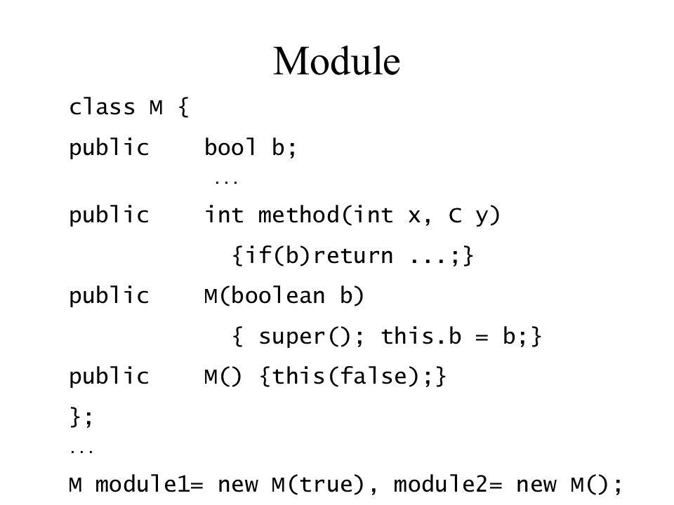 Module class M { public bool b;...