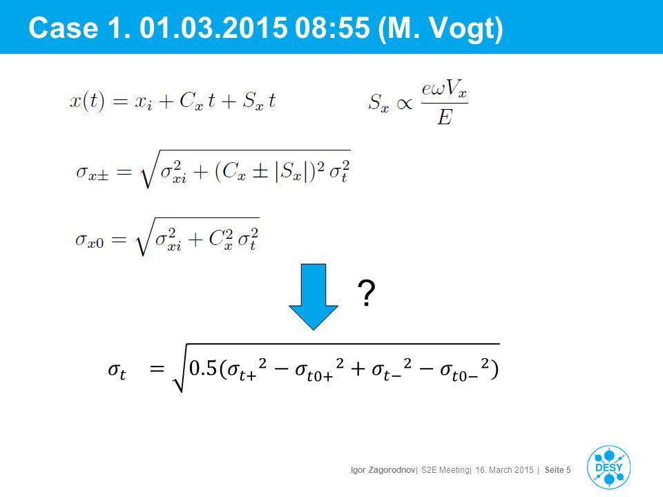 Igor Zagorodnov| S2E Meeting| 16.March 2015 | Seite 6 Case 2.