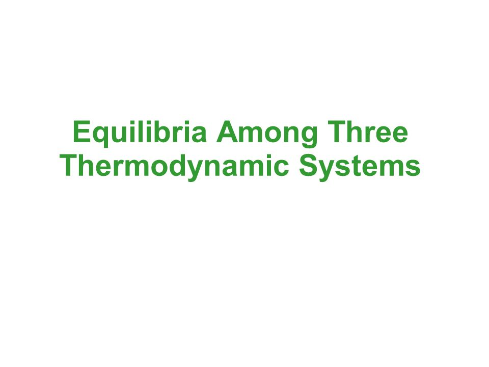 Equilibria Among Three Thermodynamic Systems
