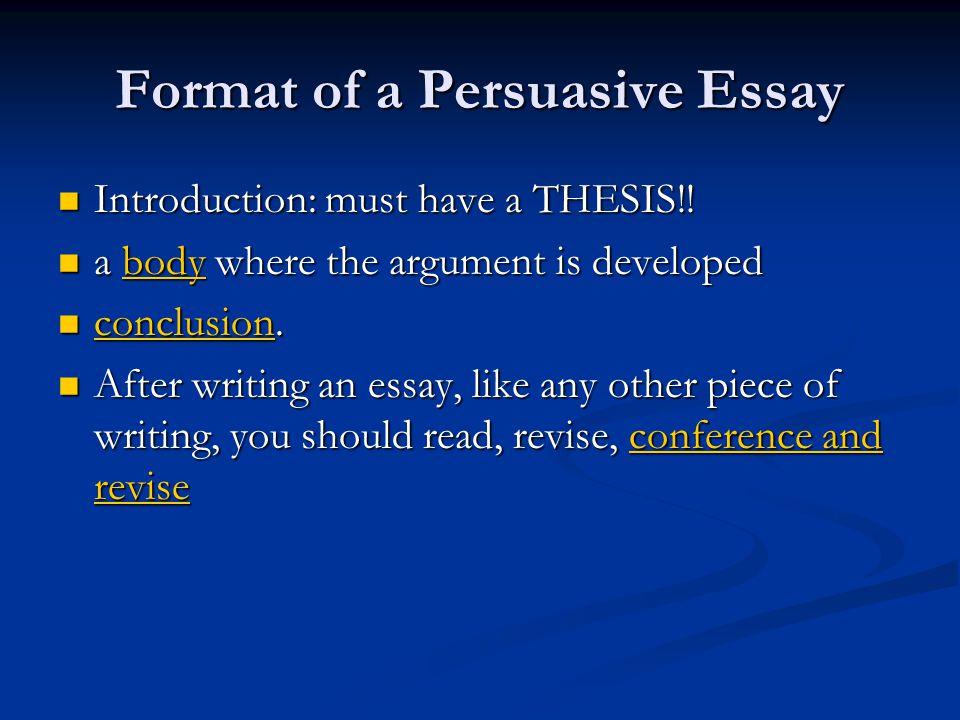 Perswasive Essay