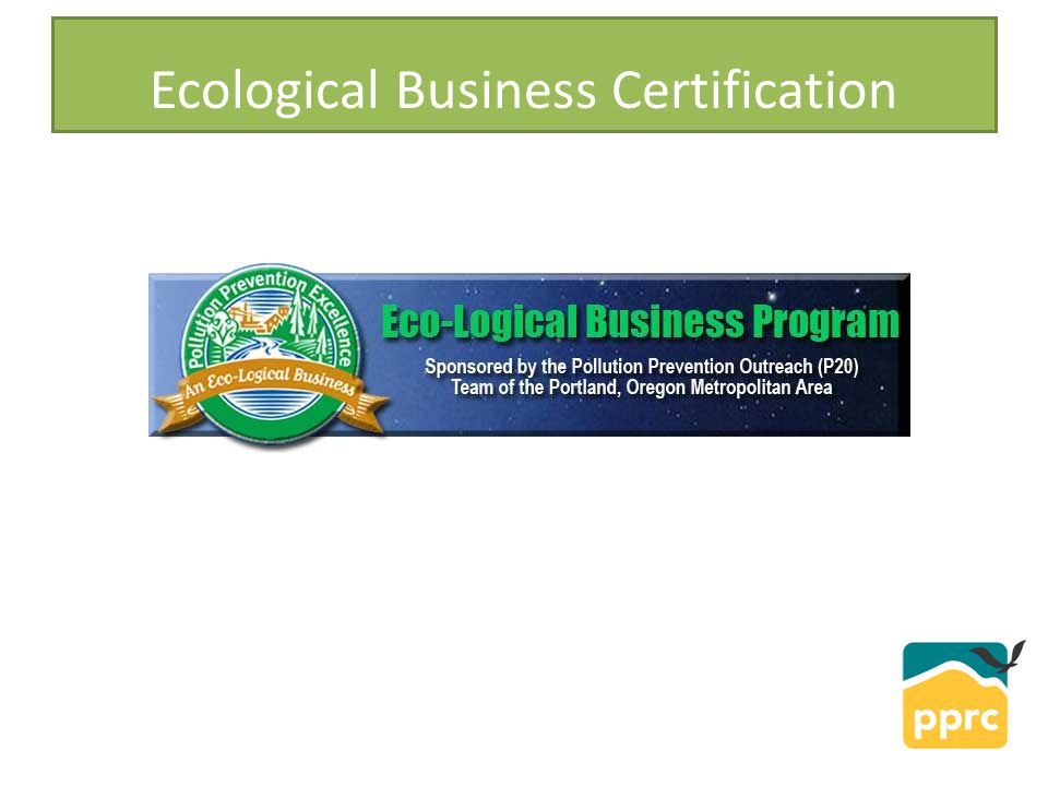 Ecological Business Certification