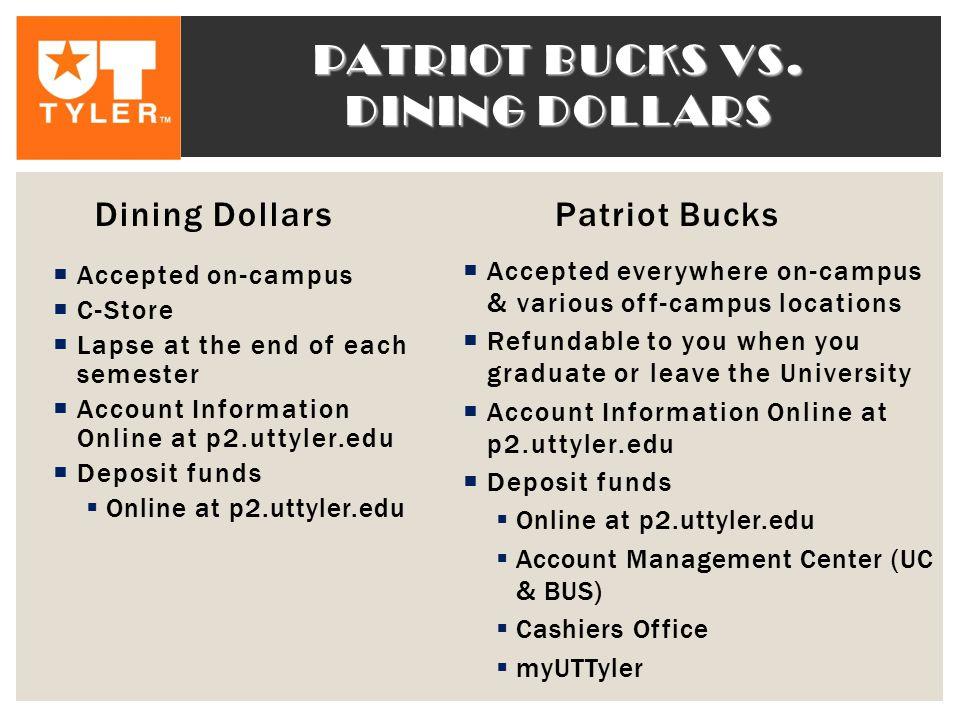 PATRIOT BUCKS VS.