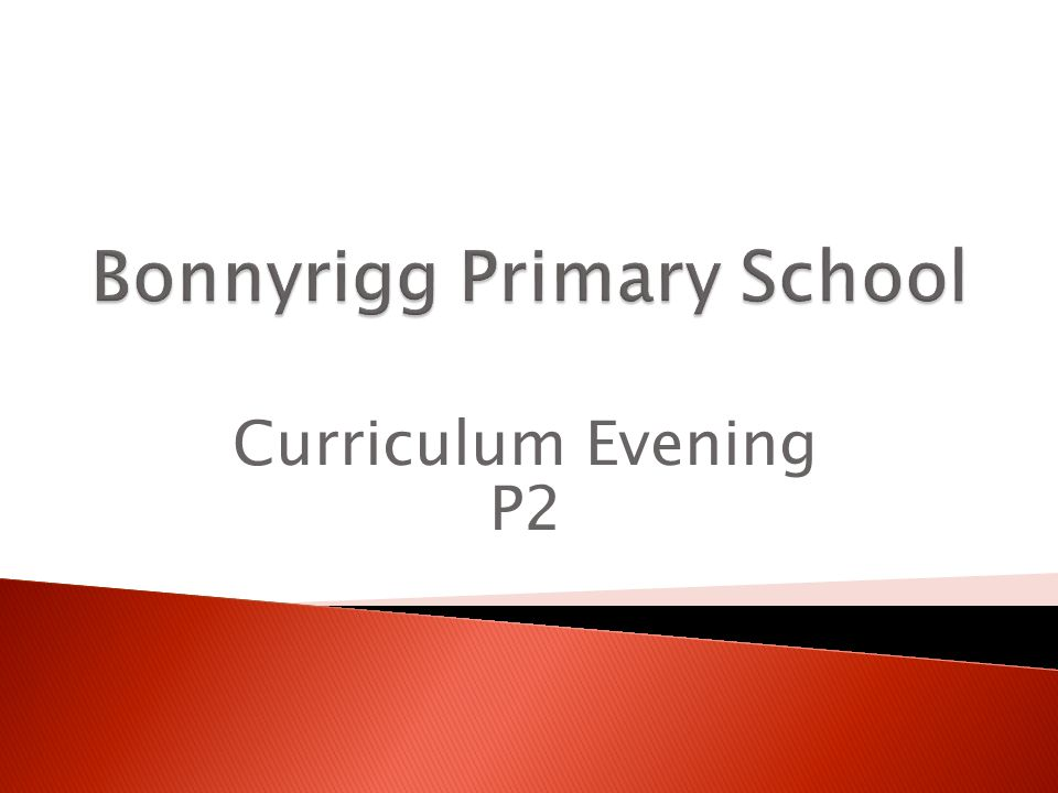 Curriculum Evening P2