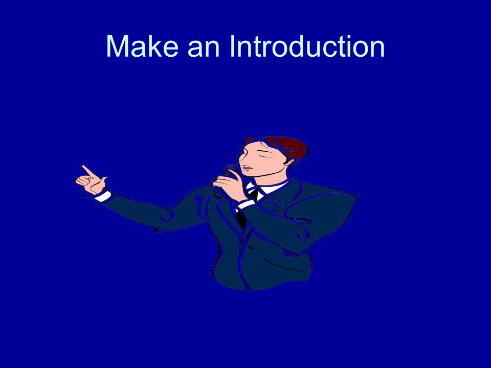 Make an Introduction