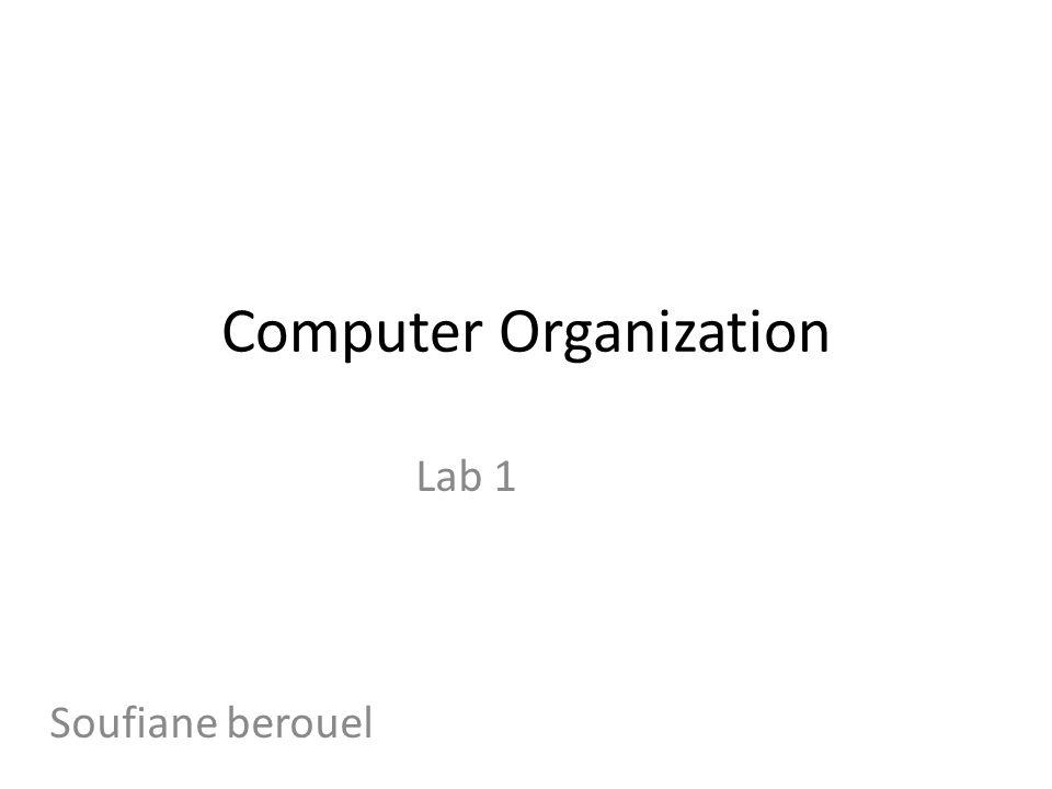 Computer Organization Lab 1 Soufiane berouel