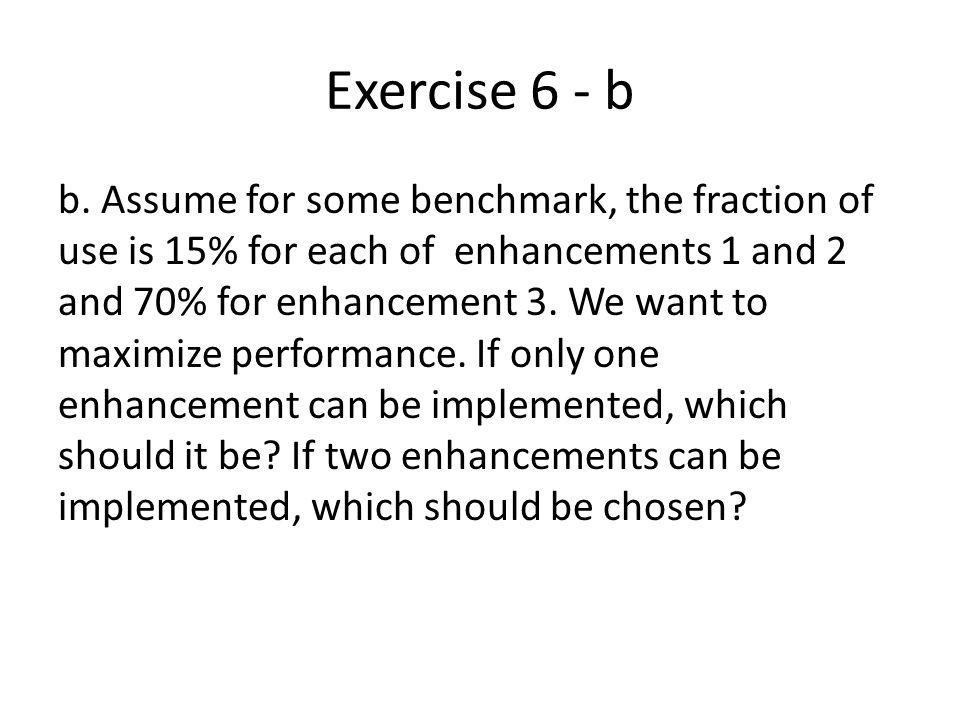 Exercise 6 - b b.