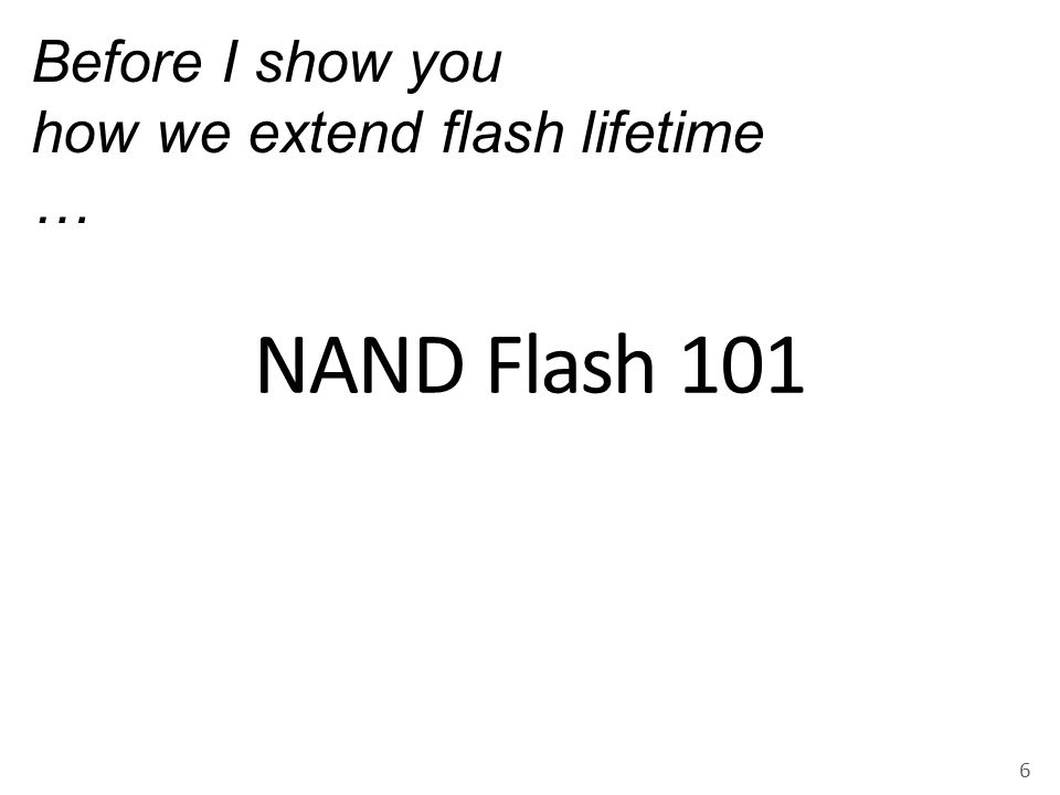 Threshold Voltage (V th ) 7 Normalized V th 0 1 Flash cell