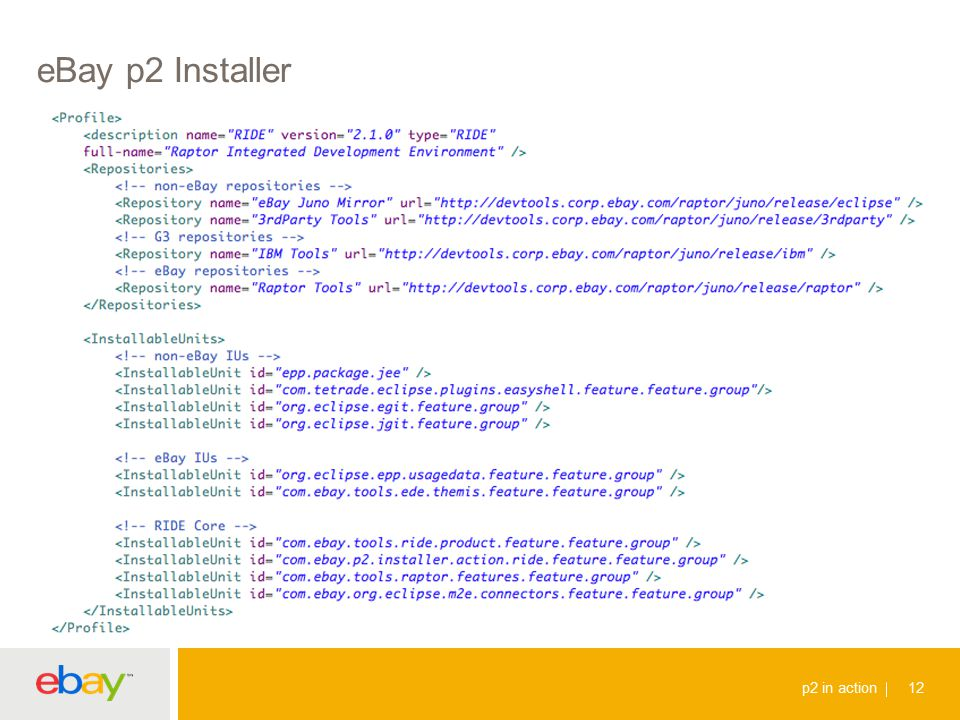 eBay p2 Installer p2 in action 12