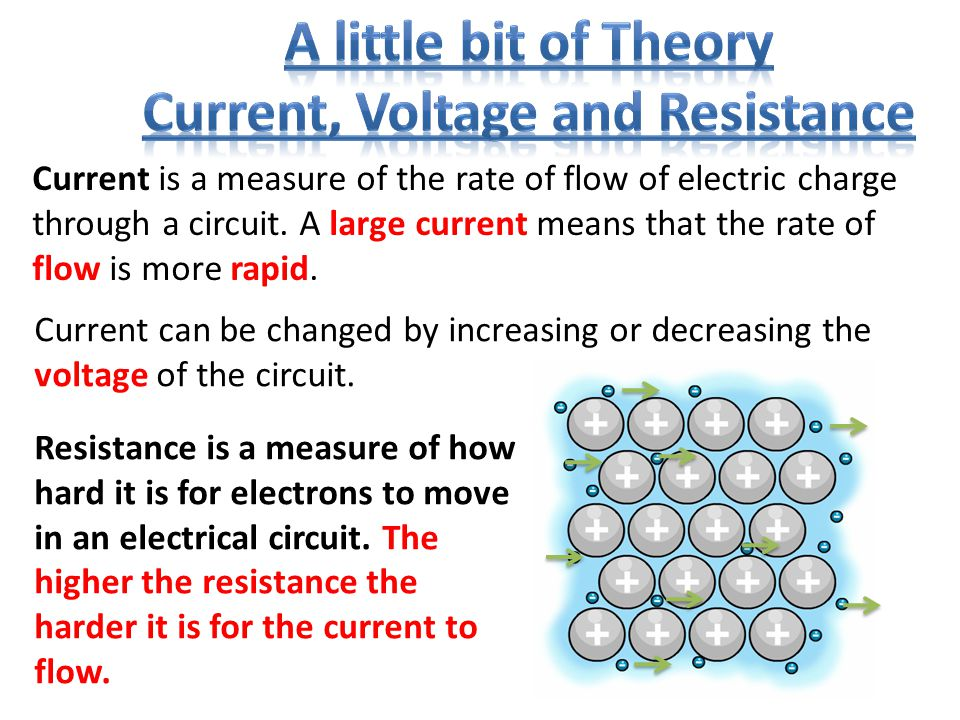 Current can be changed by increasing or decreasing the voltage of the circuit.