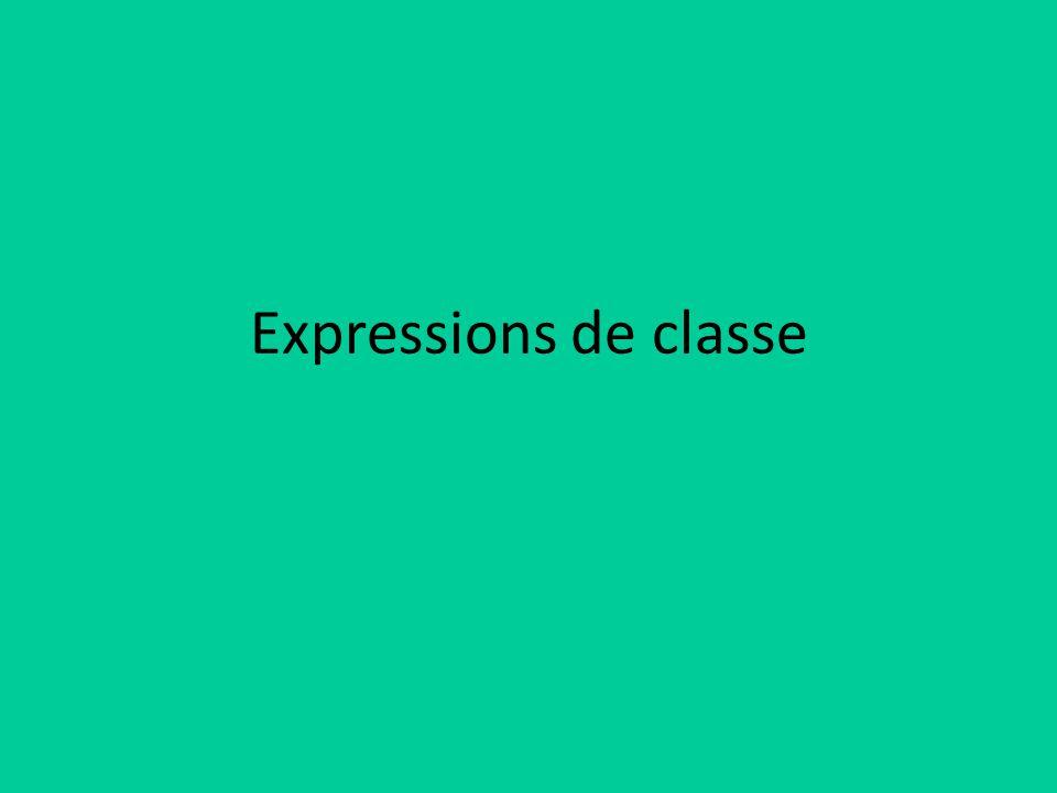 Expressions de classe