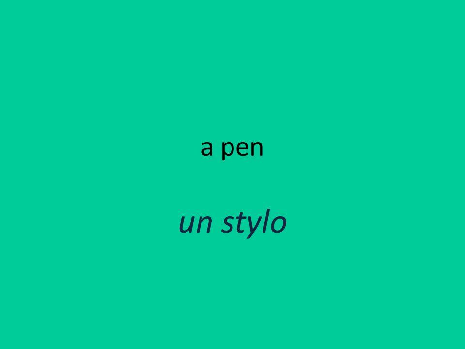a pen un stylo