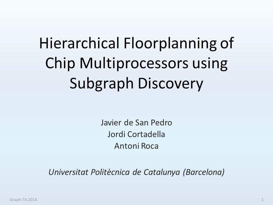 Hierarchical Floorplanning of Chip Multiprocessors using Subgraph Discovery Javier de San Pedro Jordi Cortadella Antoni Roca Universitat Politècnica de Catalunya (Barcelona) Graph-TA 20141