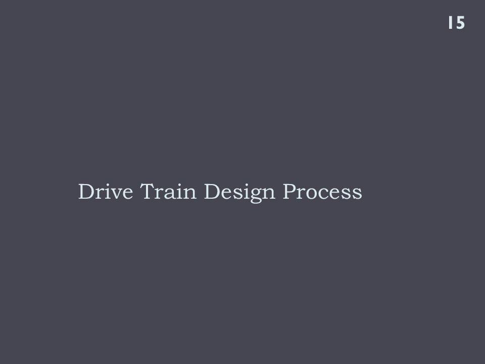Drive Train Design Process 15