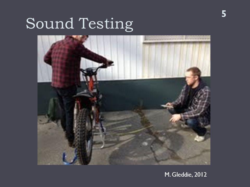 Sound Testing 5 M. Gleddie, 2012