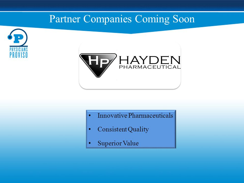 Partner Companies Coming Soon Innovative Pharmaceuticals Consistent Quality Superior Value