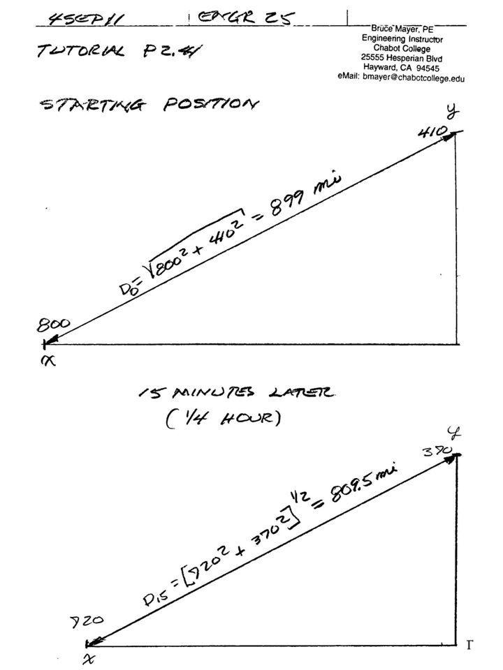 E ENGR-25_Chp2_AirCraft_Separation_.pptx 8 Bruce Mayer, PE Engineering-25: Computational Methods