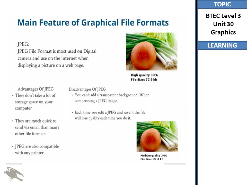 TOPIC LEARNING BTEC Level 3 Unit 30 Graphics
