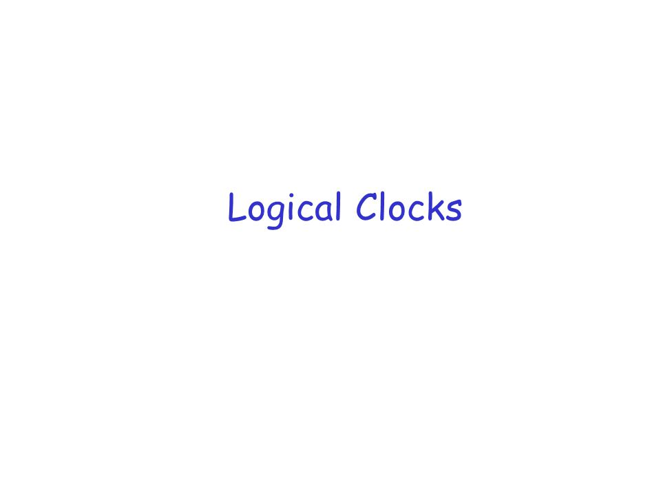 Example a b P1P2 P3 c d e f g h i j k l Assume that each process's logical clock is set to 0 1 1 12 3 23 44 5 6 3