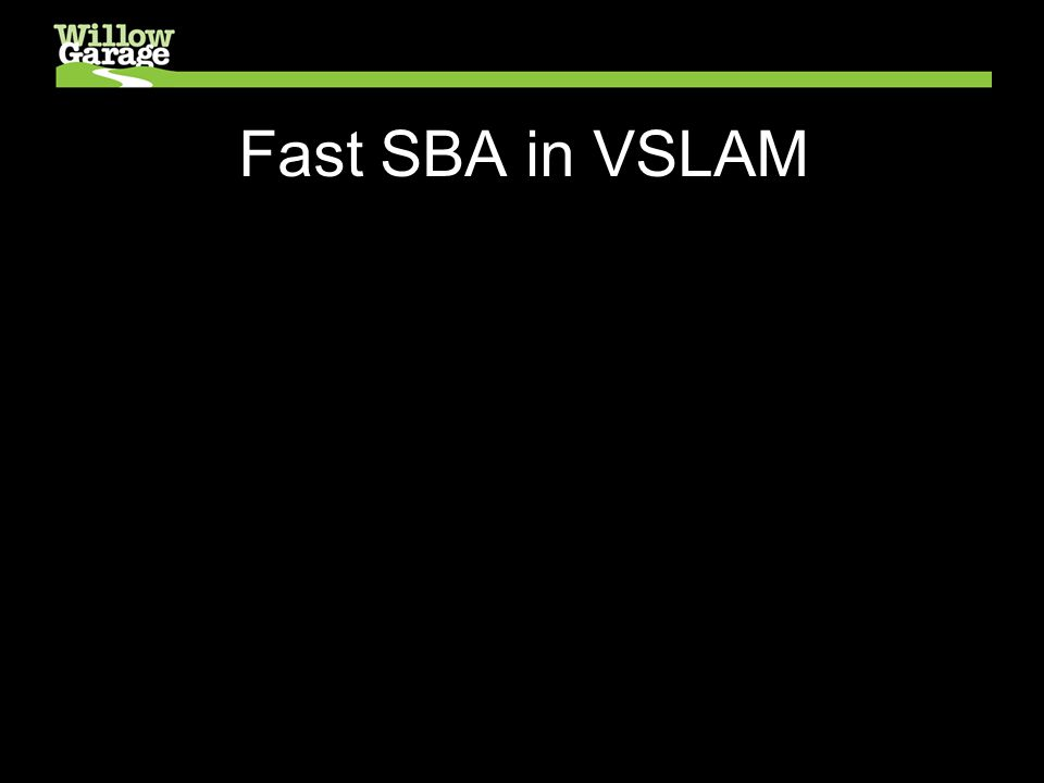 Fast SBA in VSLAM