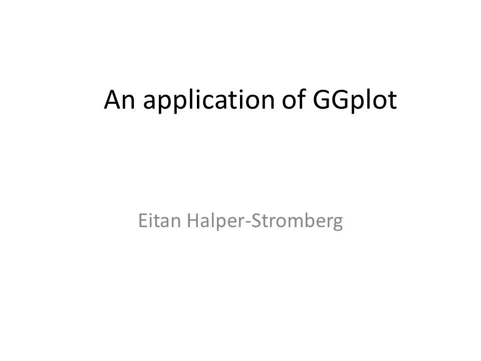 An application of GGplot Eitan Halper-Stromberg