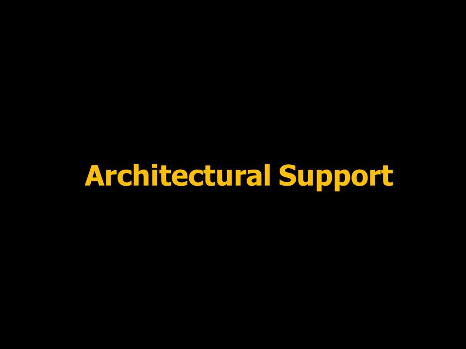 13 Architectural Support