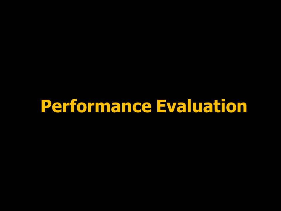25 Performance Evaluation