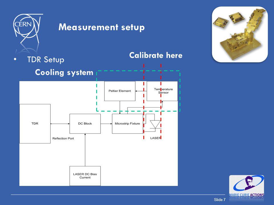 Slide 8 Measurement setup VNA Setup Calibrate here Cooling system