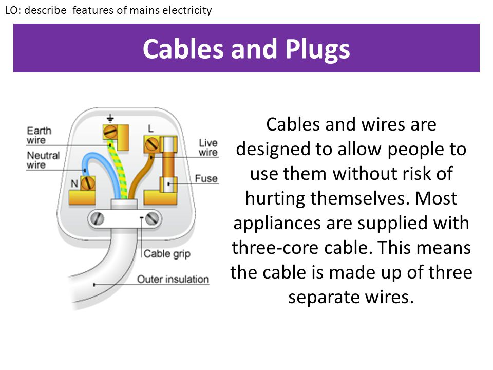Key points 1.Mains electricity uses a.c.