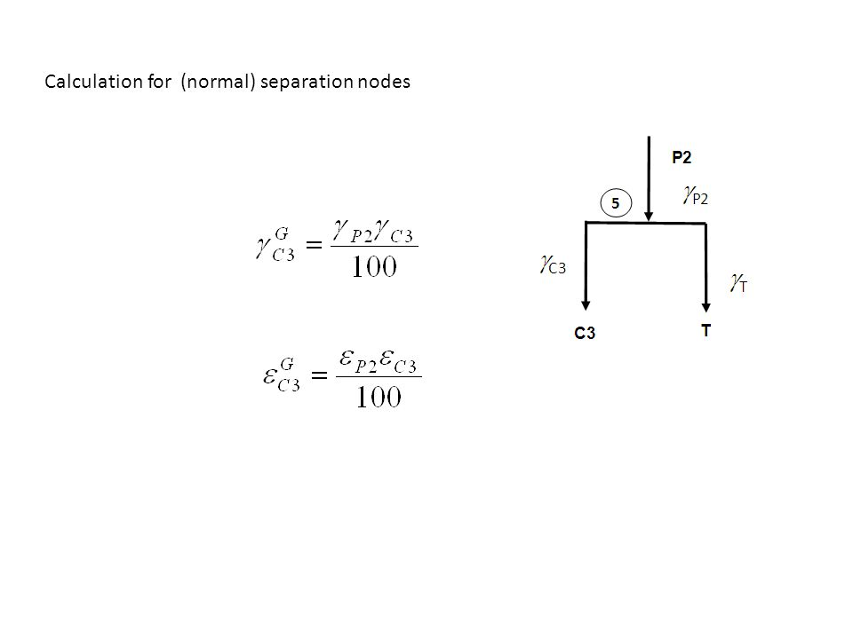 Calculation for (normal) separation nodes