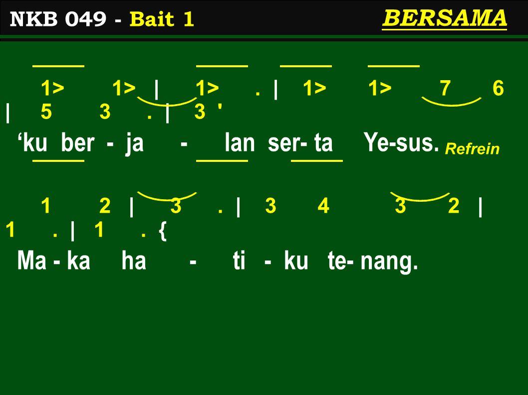 1 2 | 3.| 3 2/ 3 6 | 5 3. | 3 Mes-ki su - sah per- ja - lan- an, 2 1 | 6.