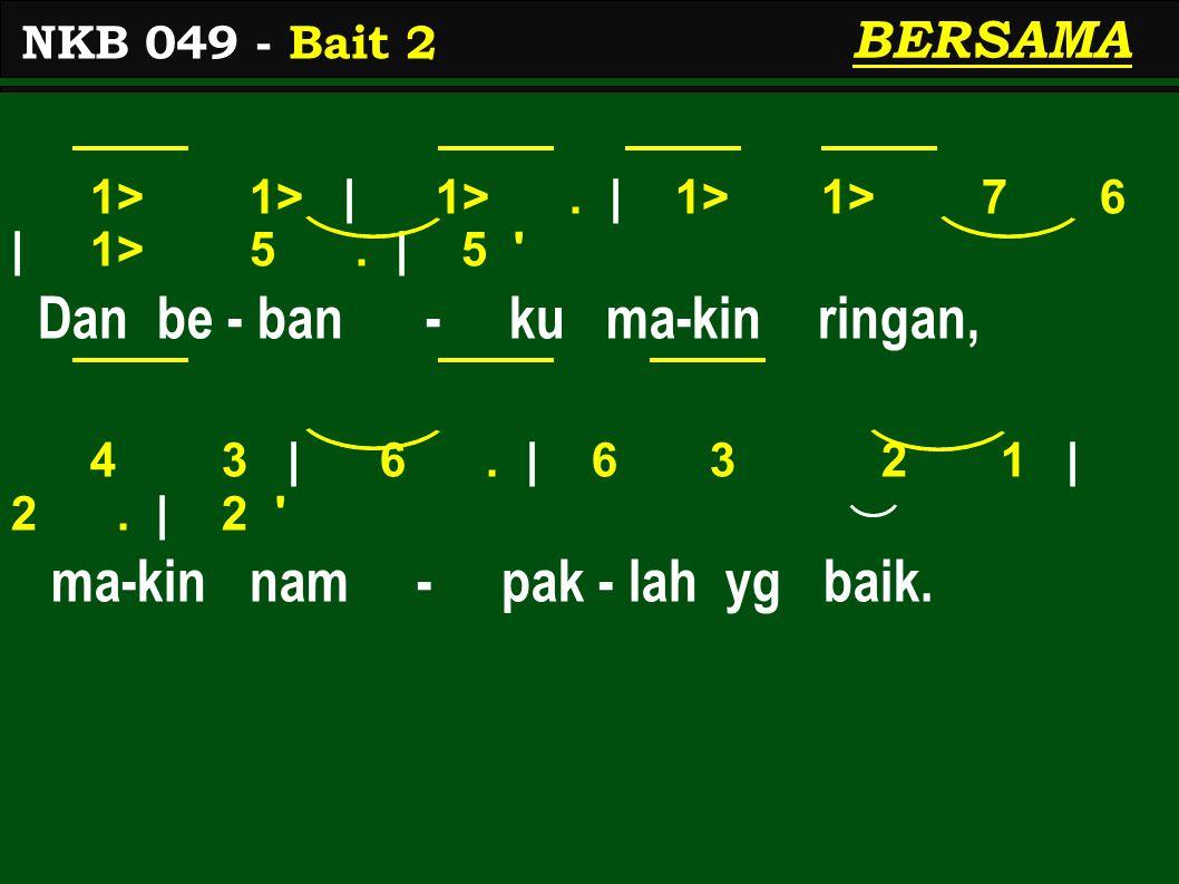 1 2 | 3.| 3 2/ 3 6 | 5 3. | 3 Di sa - na - lah t'rang a - ba - di, 2 1 | 6.