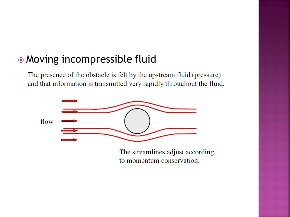  Moving incompressible fluid