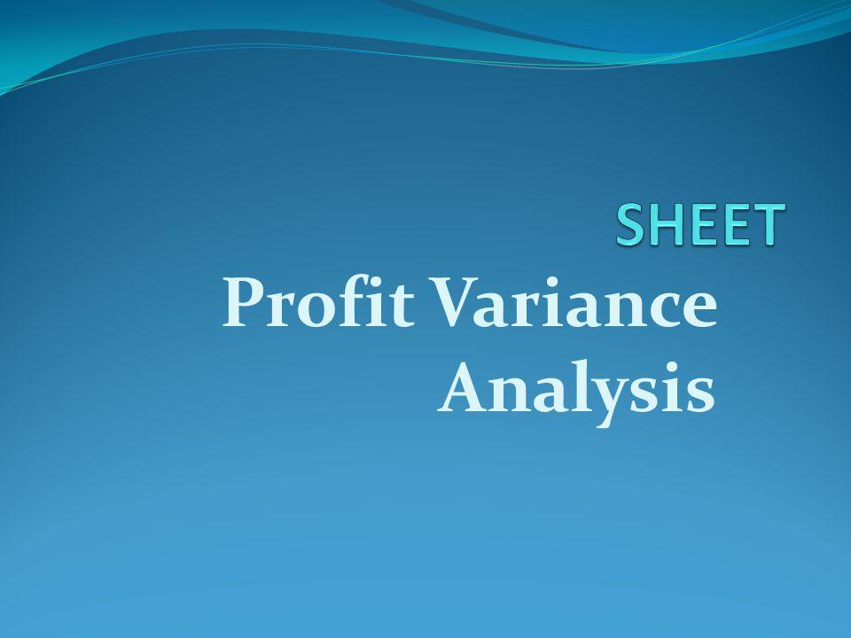 Profit Variance Analysis
