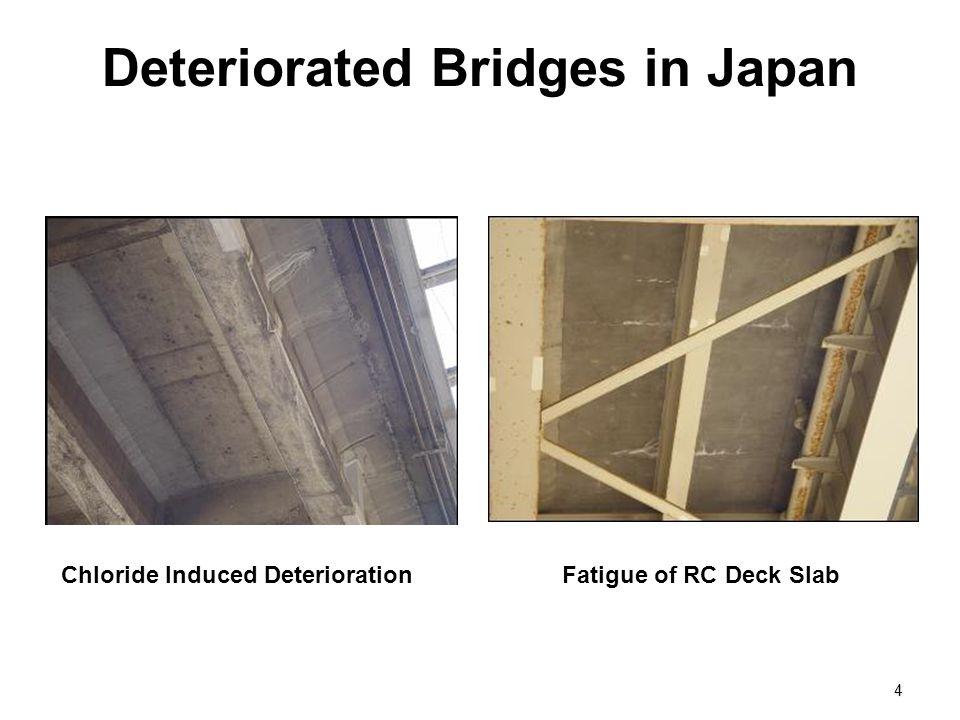 Deteriorated Bridges in Japan 4 Fatigue of RC Deck SlabChloride Induced Deterioration