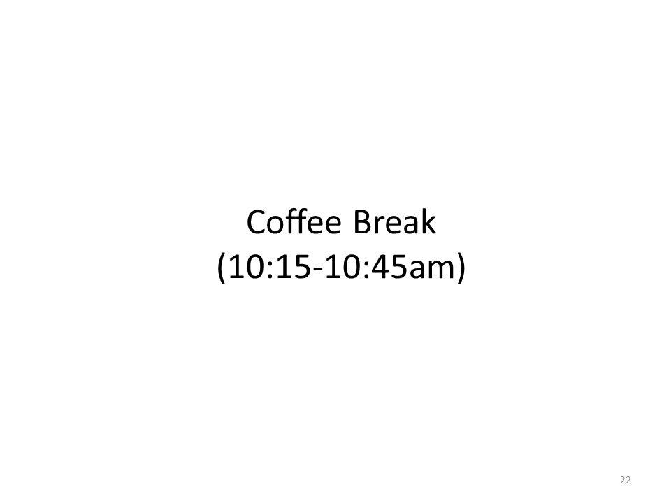 Coffee Break (10:15-10:45am) 22