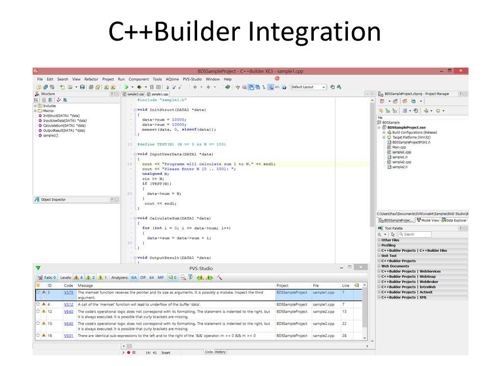 C++Builder Integration