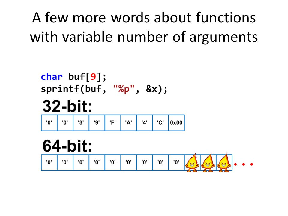 A few more words about functions with variable number of arguments