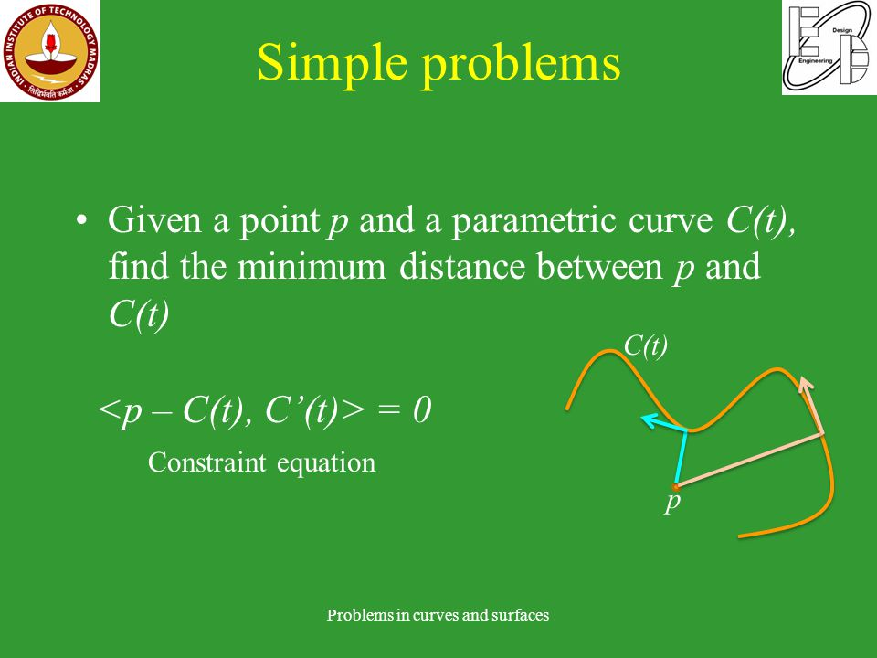 Curve-curve bisector Problems in curves and surfaces