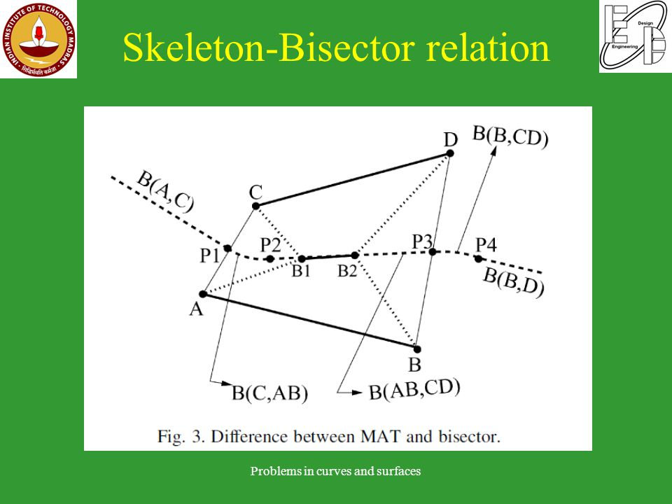 Skeleton-Bisector relation Problems in curves and surfaces