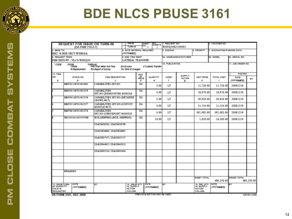 14 BDE NLCS PBUSE 3161