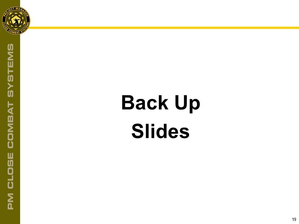19 Back Up Slides
