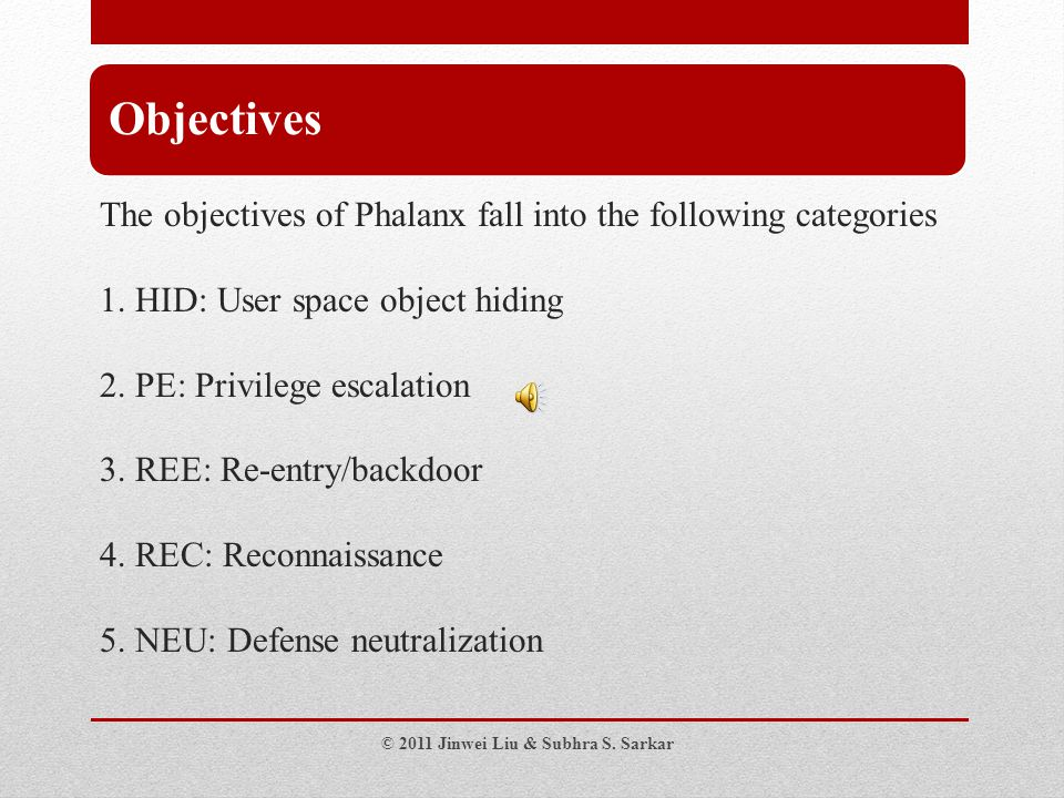 The objectives of Phalanx fall into the following categories 1.
