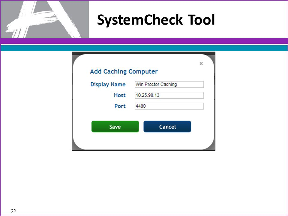 SystemCheck Tool 22