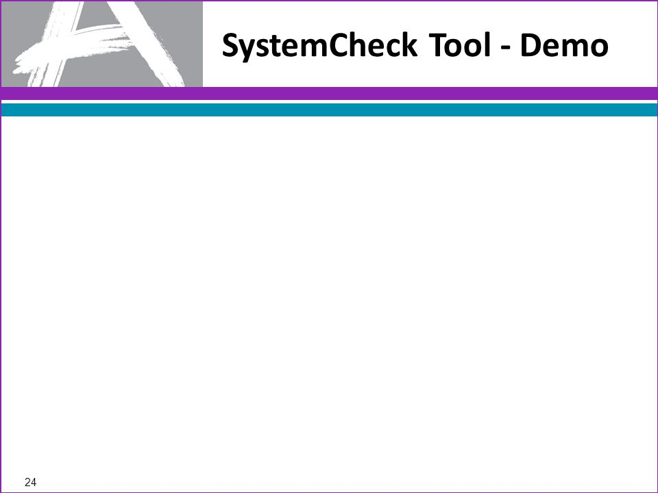 SystemCheck Tool - Demo 24