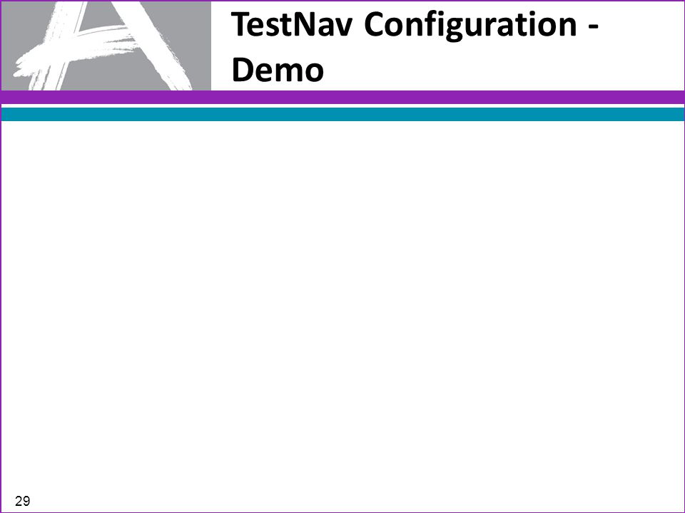 TestNav Configuration - Demo 29