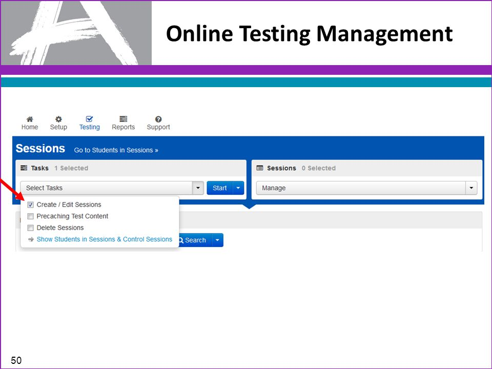 Online Testing Management 50